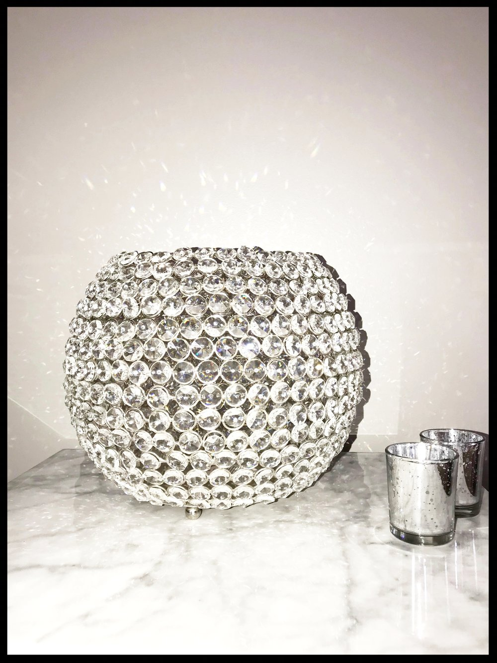 Crystal Globe Votive Holder