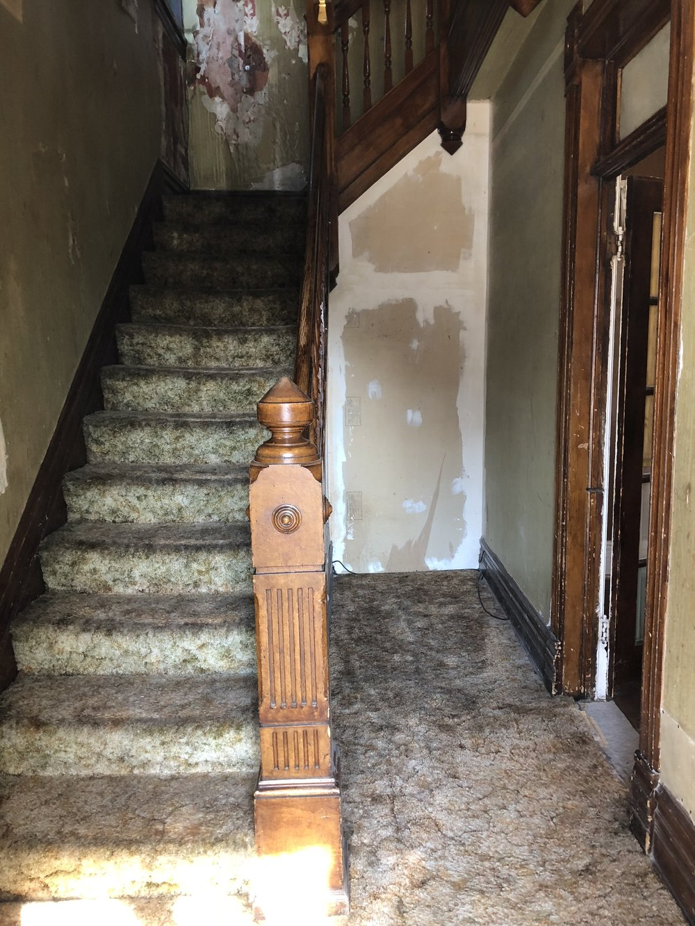 Entry way prior to demolition.