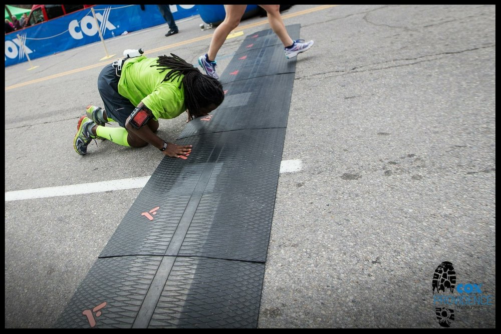 Anthony's Boston Marathon finish!