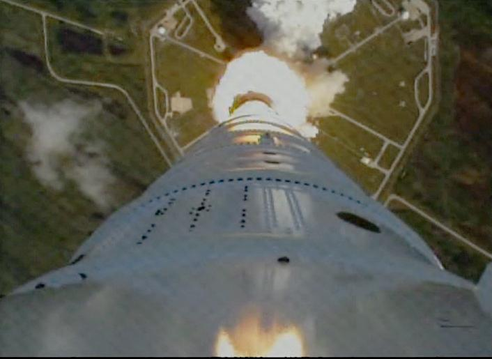 The view from a rocket. Thanks to NASA for use of this image.