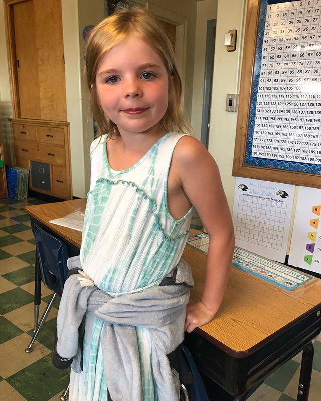 Ah, that fresh-school-supply-new-year-let's-do-this feeling. Ingrid is ready for second grade!