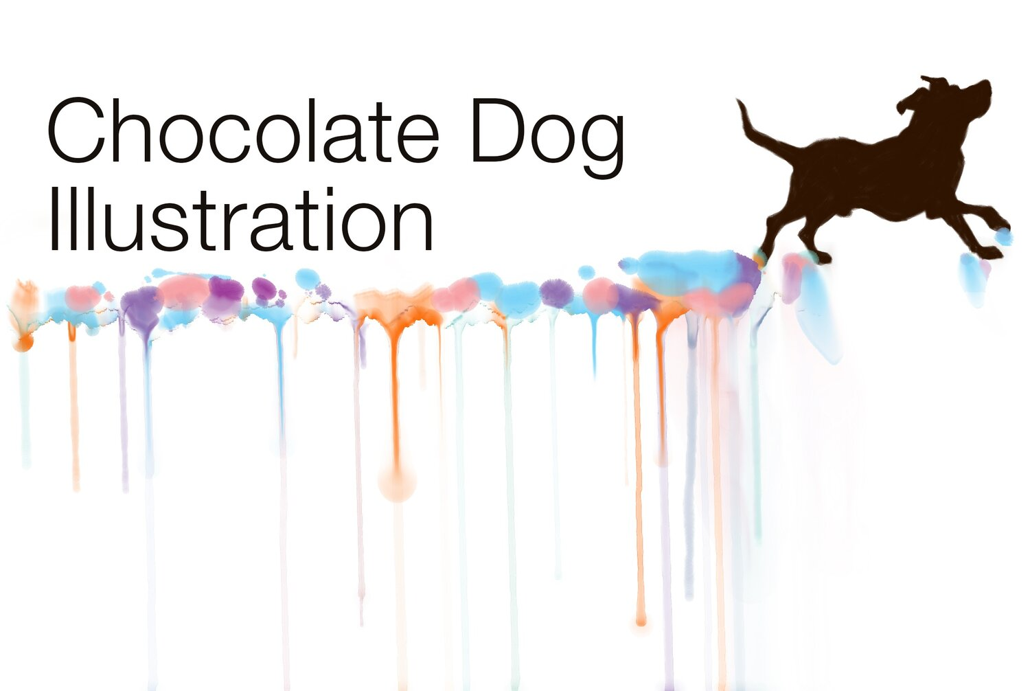 Chocolate Dog Illustration