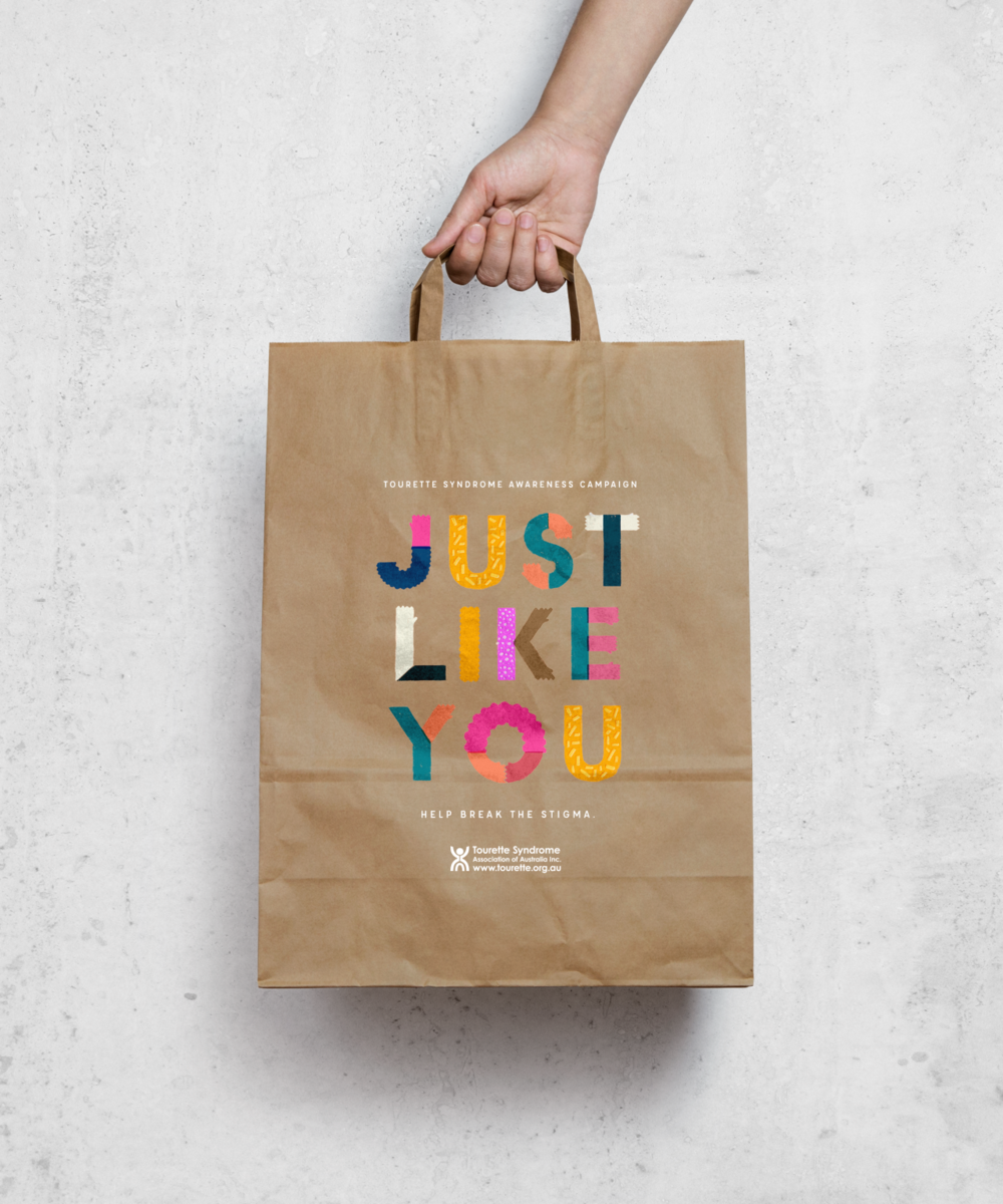 Tourrette Syndrome Association of Australia    'Just Like You' Campaign    Marketing, Logo and Graphic Design, 2017