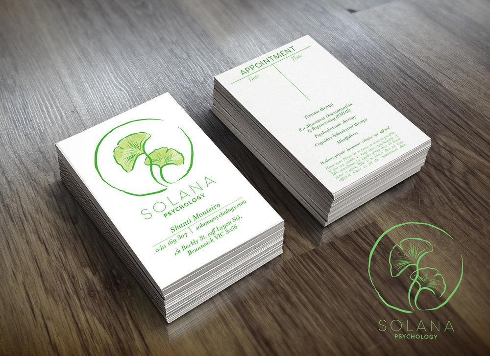 Solana Psychology    Logo, Graphic Design and Branding.