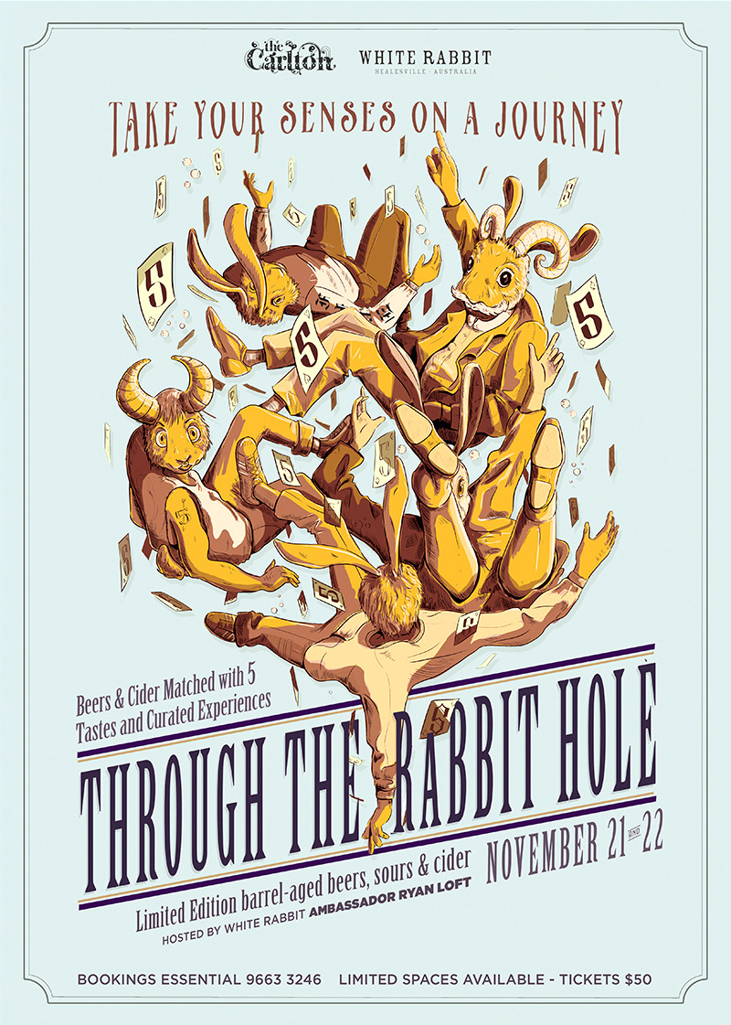 Carlton Club, Melbourne    'Through the Rabbit Hole' Event    Graphic Art & Design, Set Design, 2017