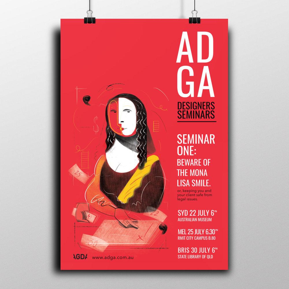Graduate Work, CATC    'ADGA Seminar' Poster Set, 2015