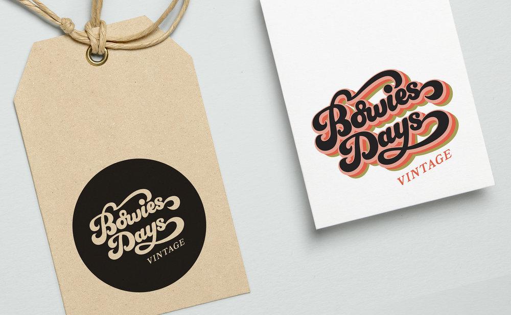 Bowies Days Vintage    Logo Design, 2018.
