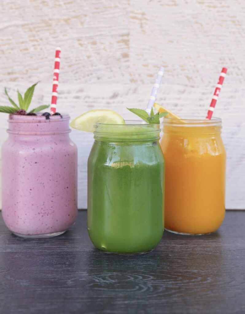 Choose from a selection of fresh juices and smoothies.