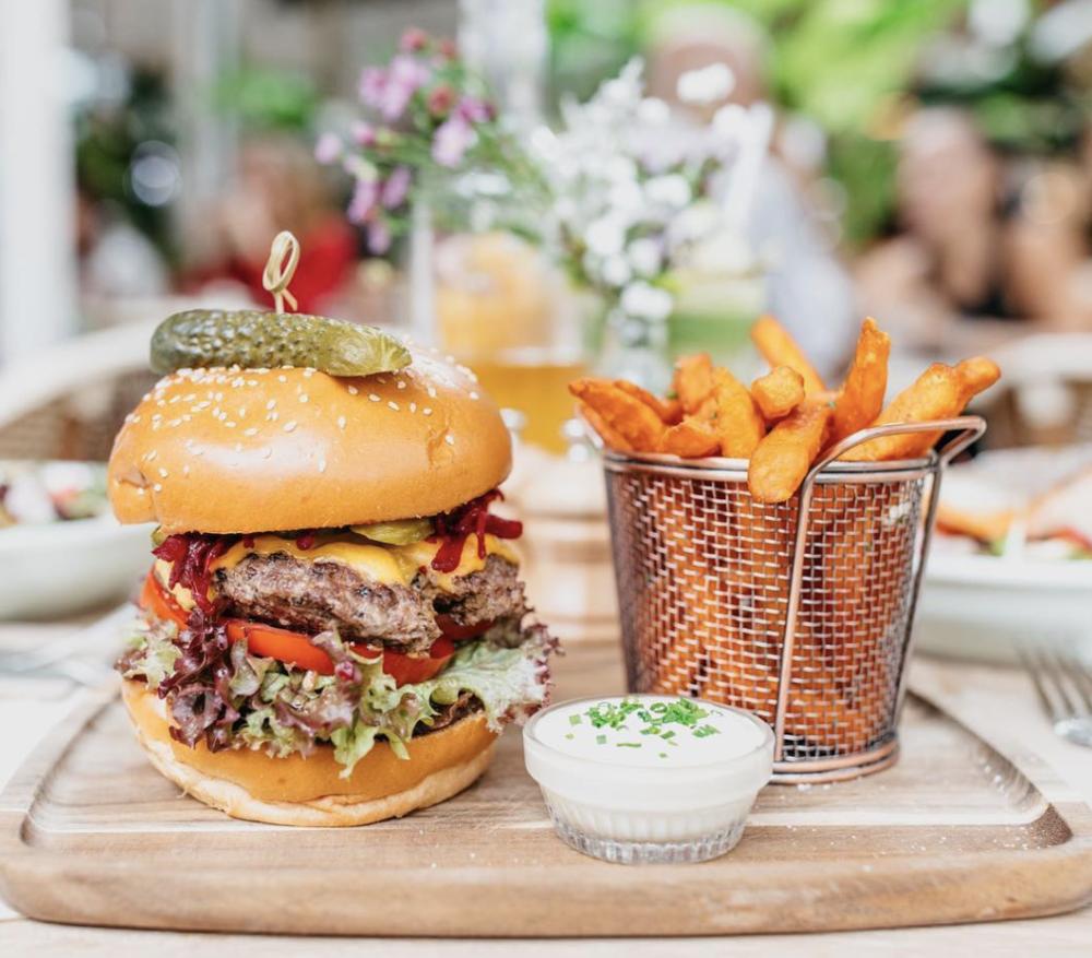 The Truffle Burger  Image courtesy of Flower Child