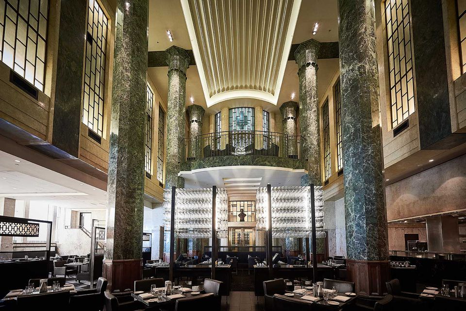 The main atrium of the restaurant. Image courtesy of The Rockpool Dining Group.