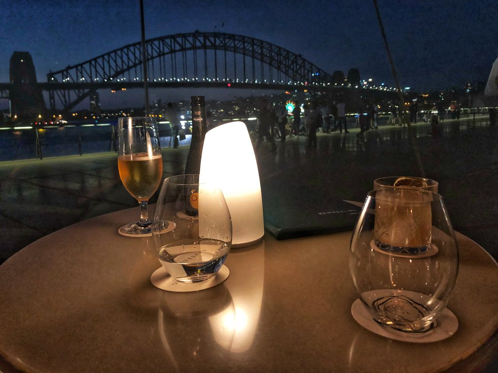 Harbour views from the bar