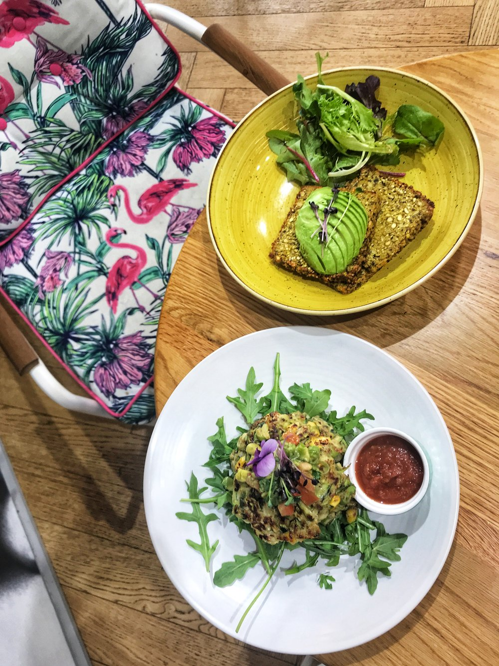 Pumpkin & Turmeric Sprouted Toast with Avocado and the Zucchini & Corn Fritters
