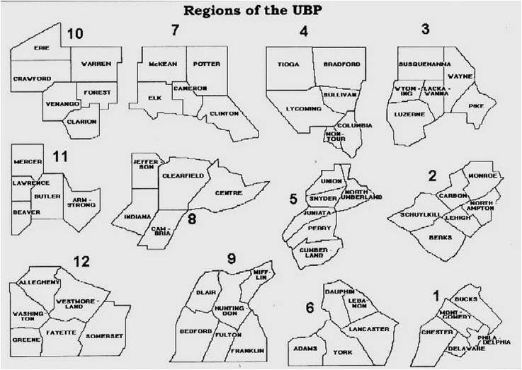 UBP Regional Map & Grassroots Leadership -