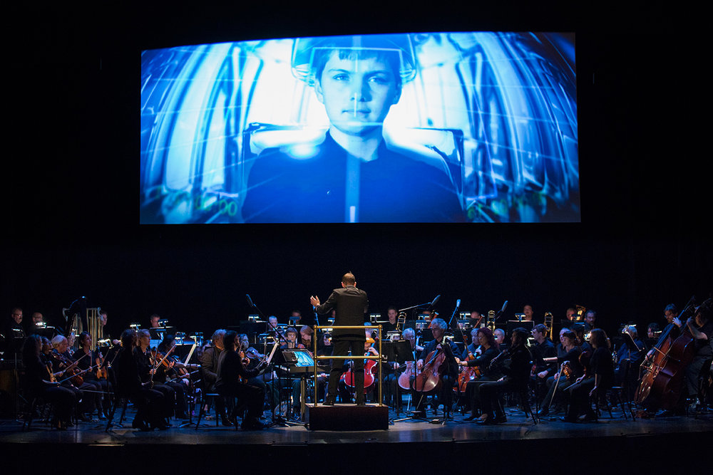 LexPhil presents Philip Glass' multimedia work, Icarus at the Edge of Time, at the Lexington Opera House, October 17, 2014. Photo by Richie Wireman.