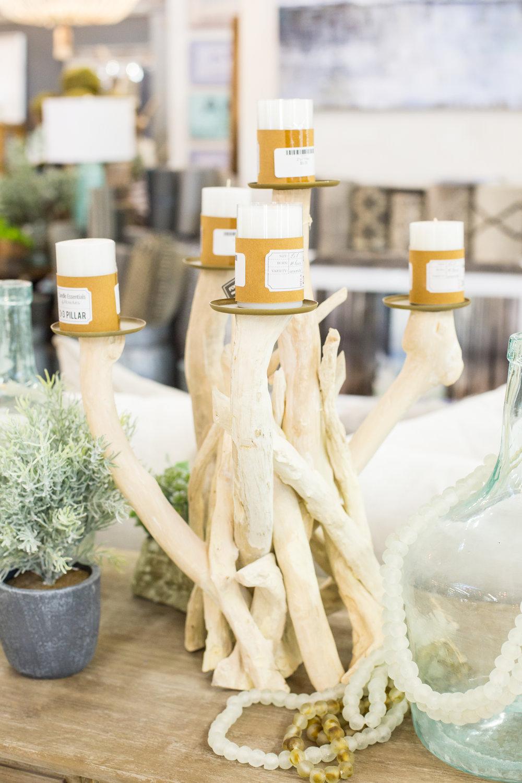 Driftwood white candelabra
