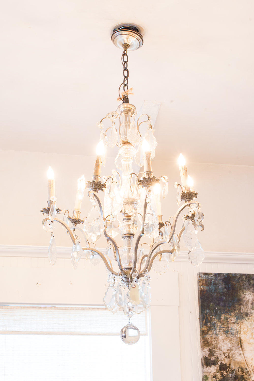 White chic chandelier