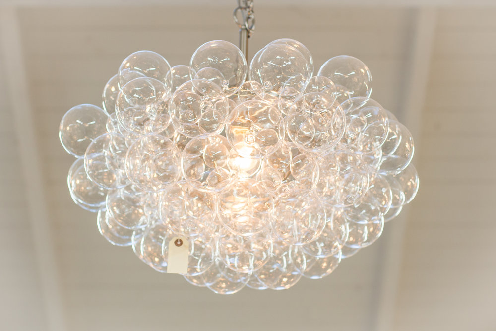 Bubble glass bulb chandelier