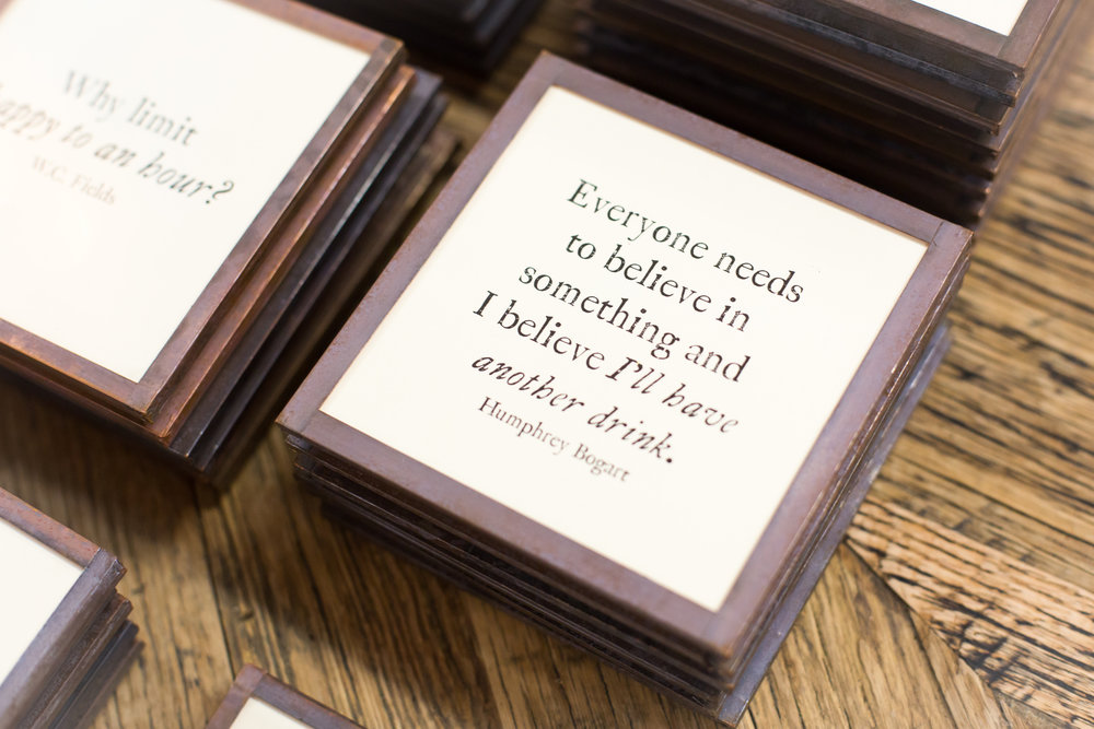 Inspirational quotes coasters
