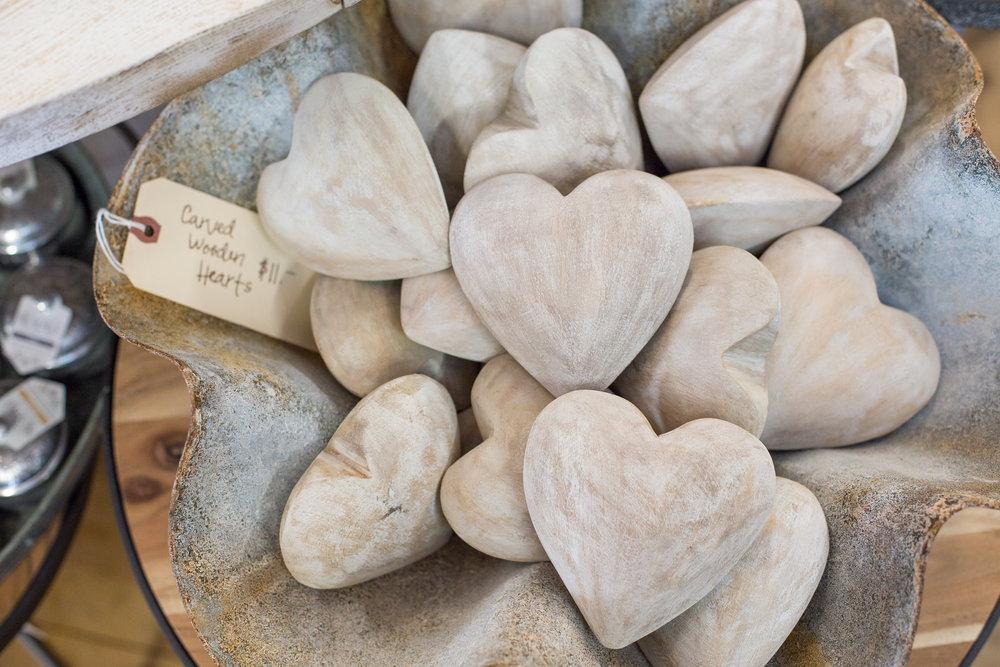 Wooden heart gift