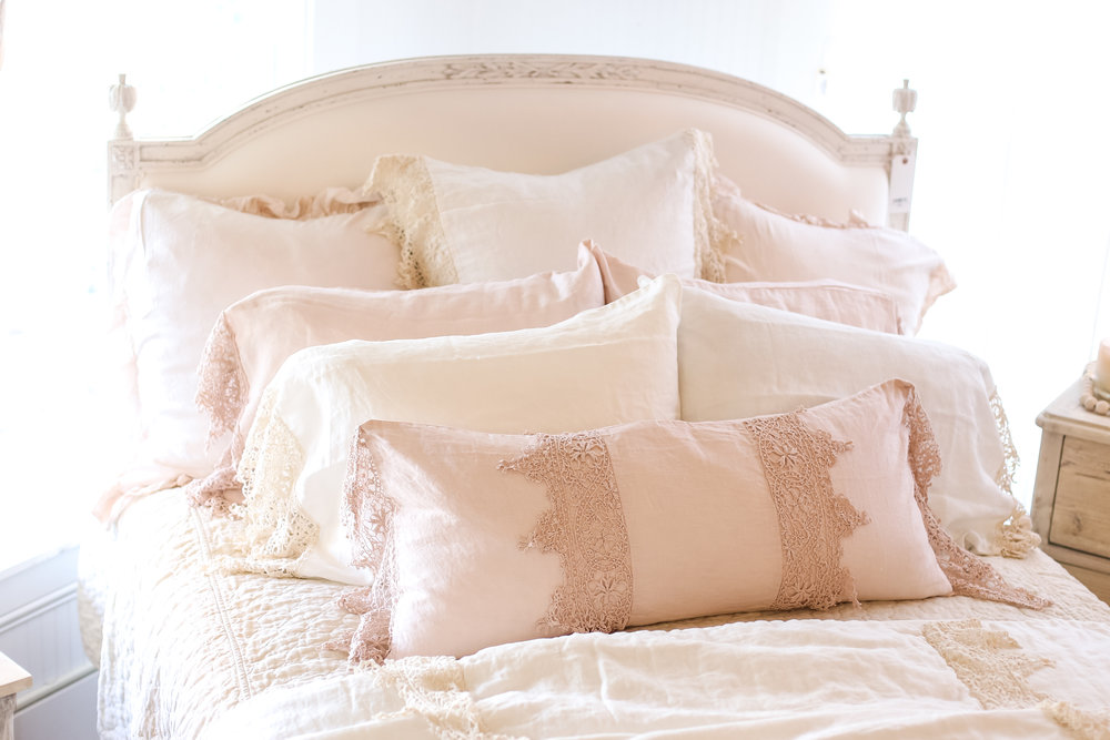 Blush restful bedding