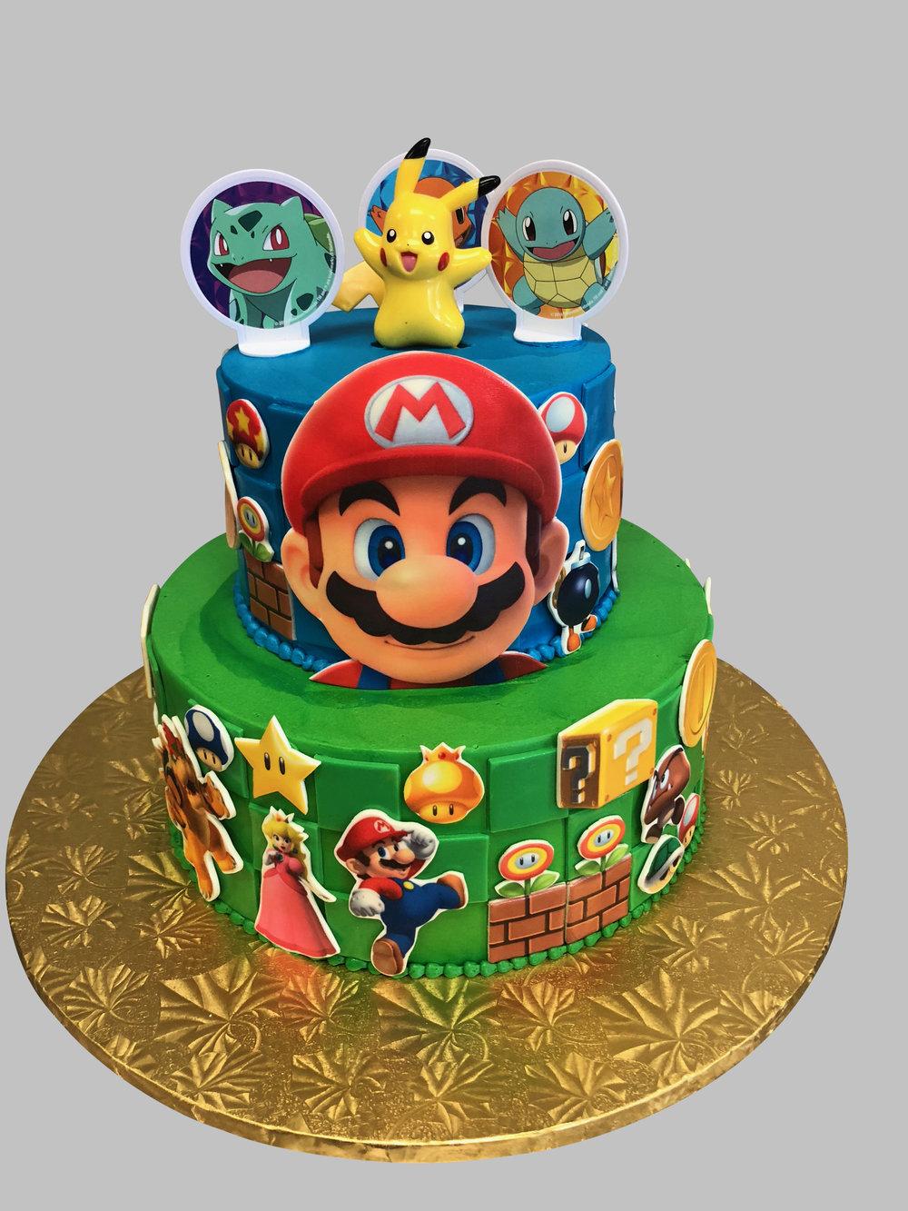Strange Super Mario Birthday Cake Skazka Desserts Bakery Nj Custom Personalised Birthday Cards Veneteletsinfo