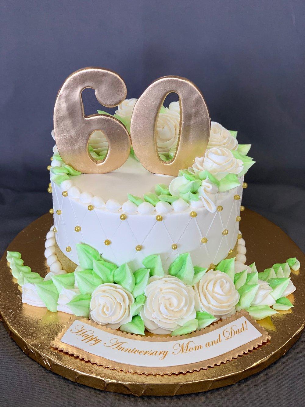 Astonishing 60Th Birthday Cake Skazka Desserts Bakery Nj Custom Birthday Funny Birthday Cards Online Inifofree Goldxyz