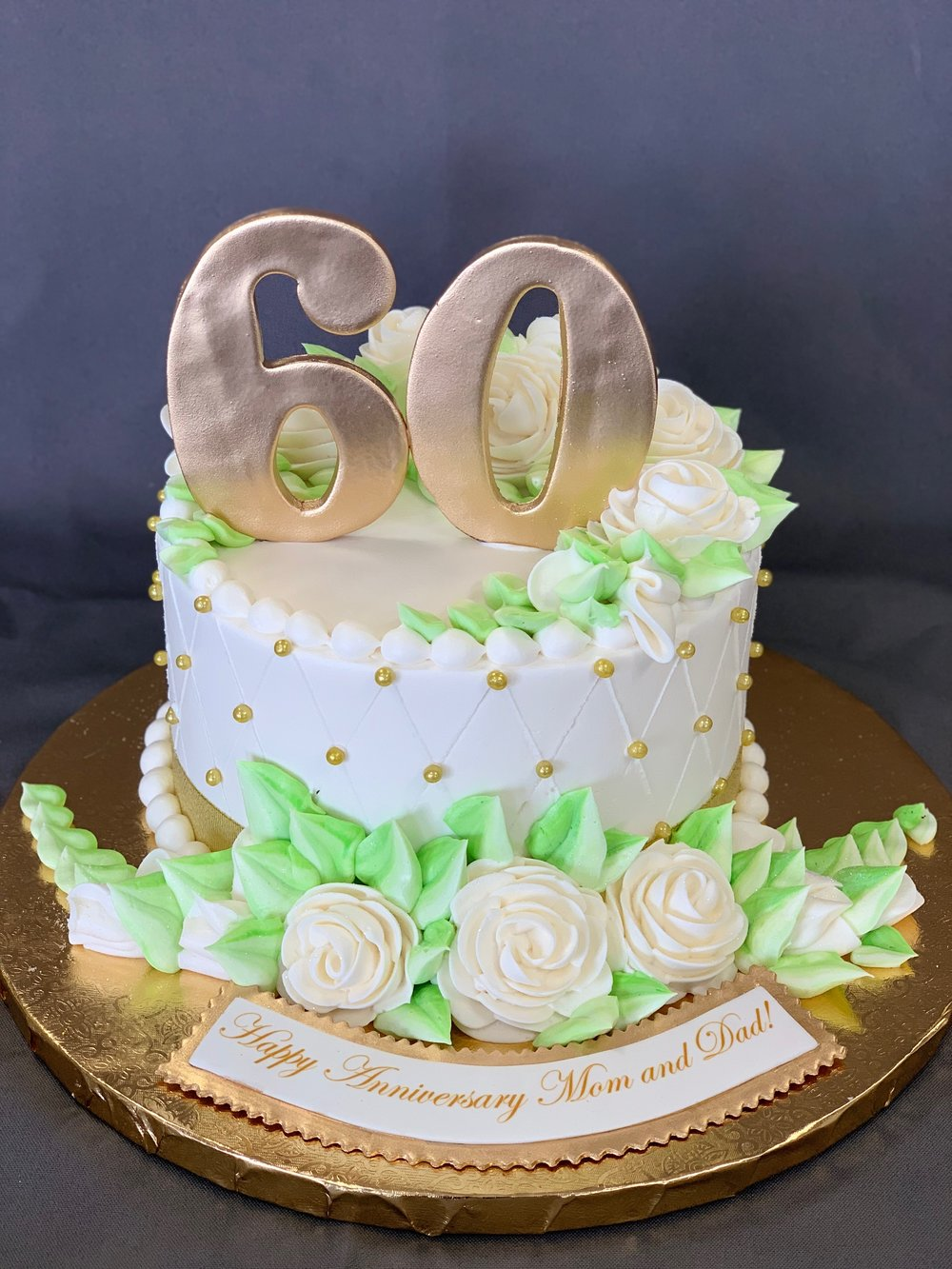 Outstanding 60Th Birthday Cake Skazka Desserts Bakery Nj Custom Birthday Funny Birthday Cards Online Alyptdamsfinfo