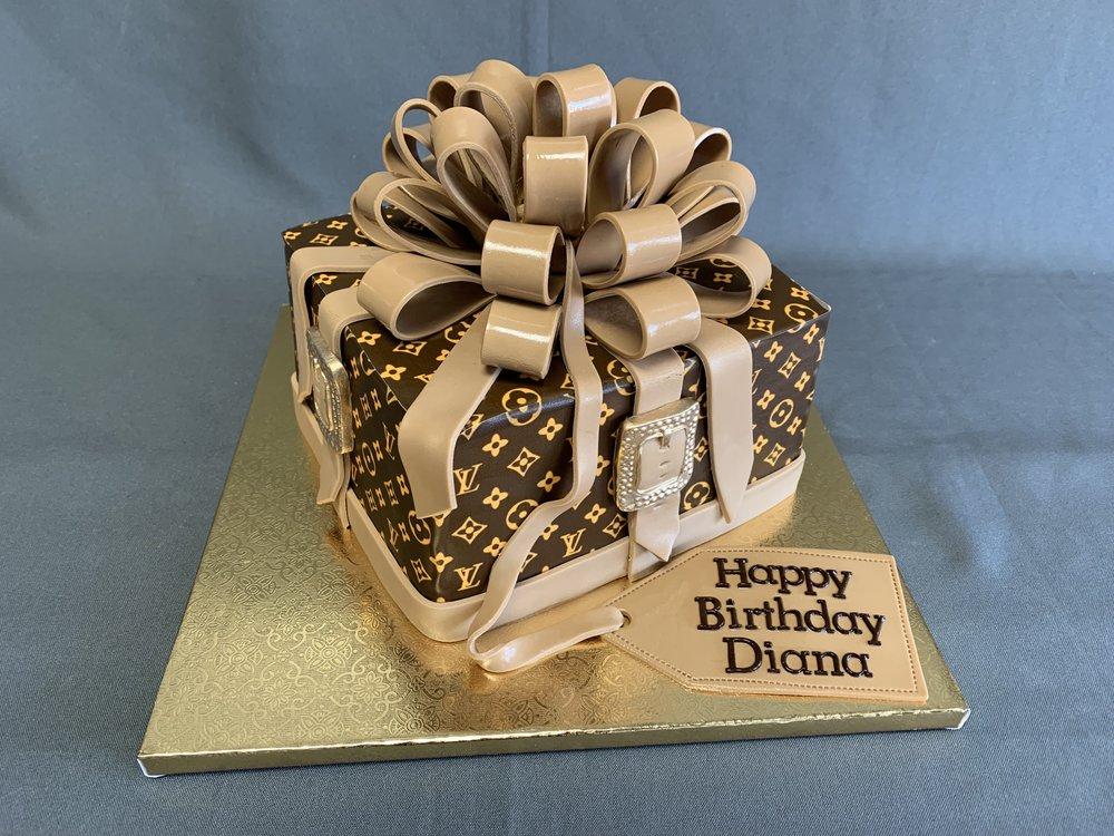 Pleasant Louis Vuitton Themed Birthday Cake Skazka Desserts Bakery Nj Funny Birthday Cards Online Alyptdamsfinfo