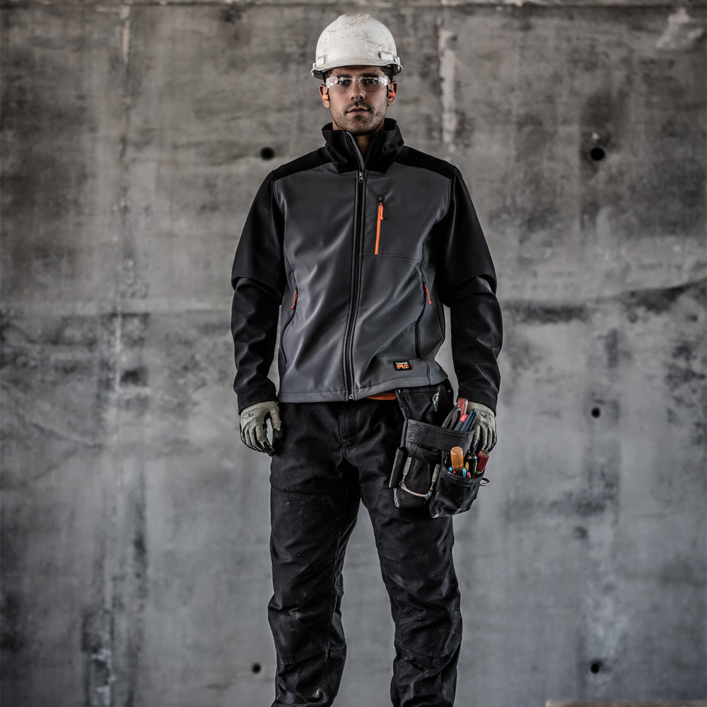 Man in Hard Hat and Work Gear