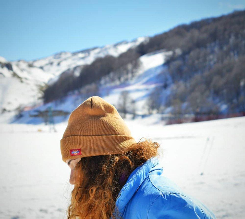 Woman Wearing Dickies Hat