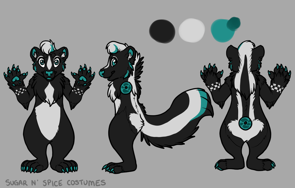 Ska skunk - $1900  Plantigrade Full suit      $2100 Didgigrade Full suit. This suit will include a badge from Lilbobleat