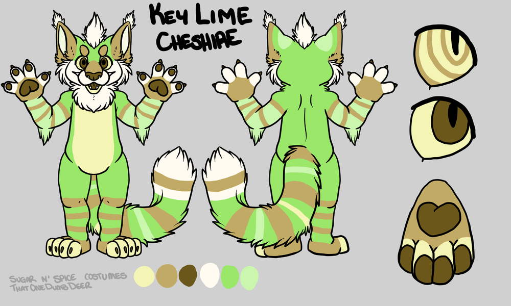 Key lime Cheshire Linx - $1950  Plantigrade Full suit      $2100 Didgigrade Full suit. This suit will include a badge from Lilbobleat