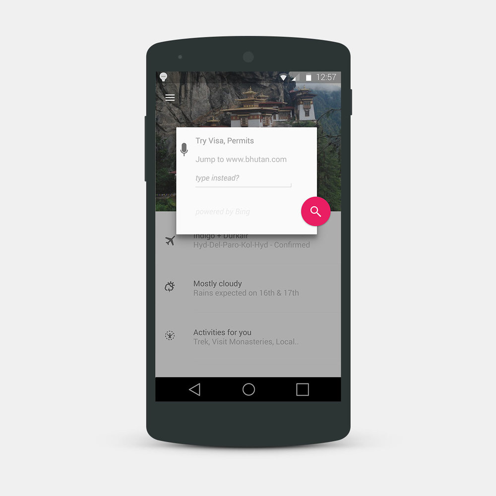 Augmented Search - Based on tasks, search will suggest results, terms to aid in completion and progress.