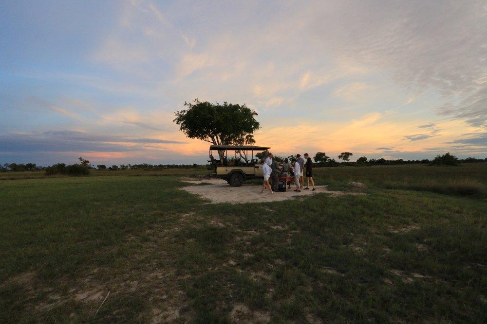 Nxai Pans campsite, Botswana