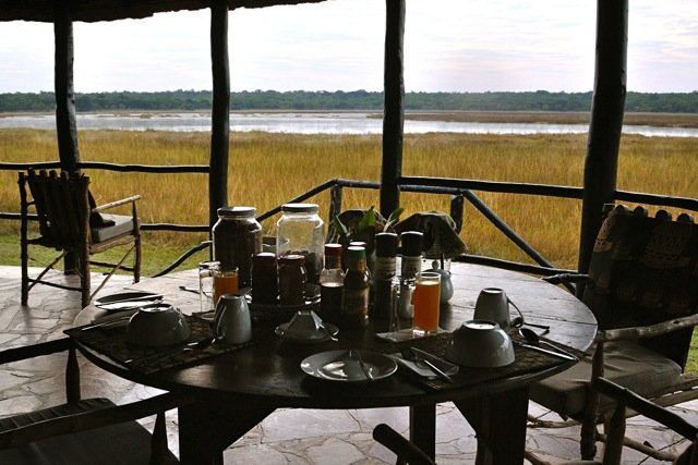 Wasa Lodge breakfast deck