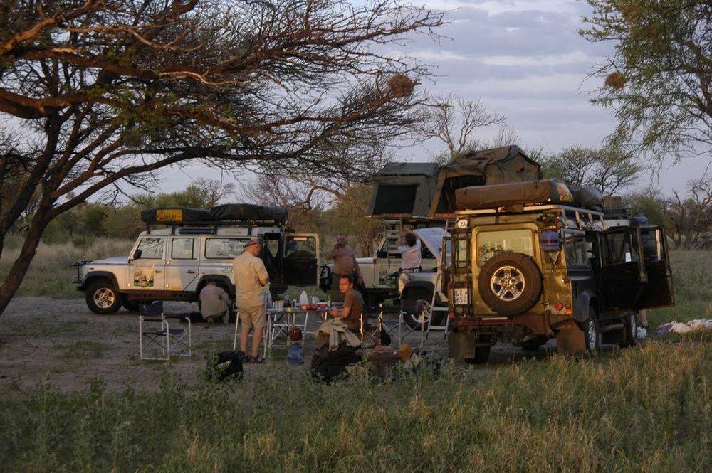 Xade campsite, Central Kalahari, Botswana