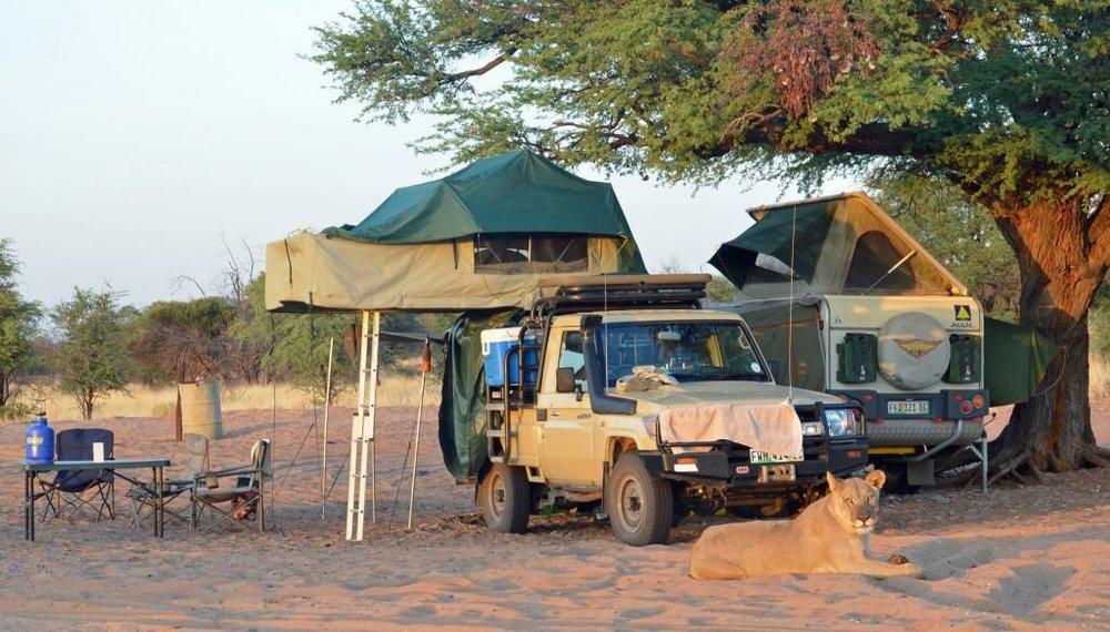 Deception Valley camping, Central Kalahari, Botswana