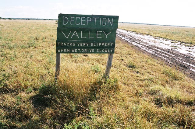 Entrance to Deception Valley, Botswana