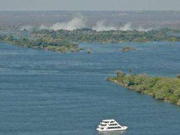 Boat cruise at Victoria Falls