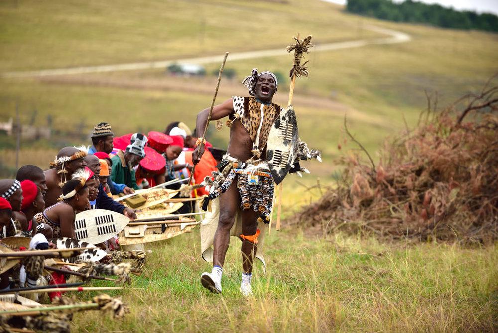 Traditional Zulu dance in KwaZulu Natal