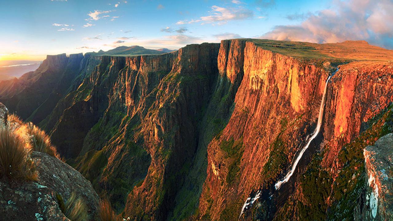 The Tugela Falls in the Drakensberg.