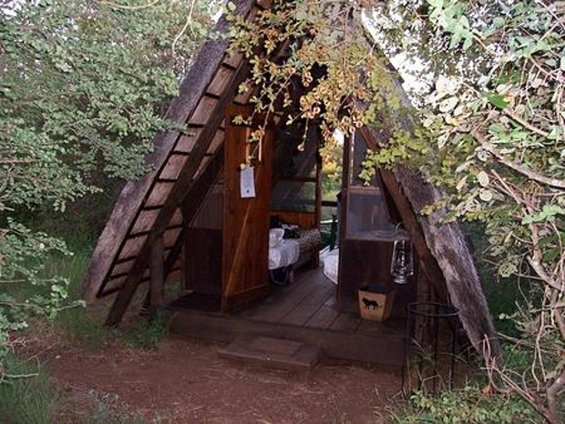 safari trail hut in africa