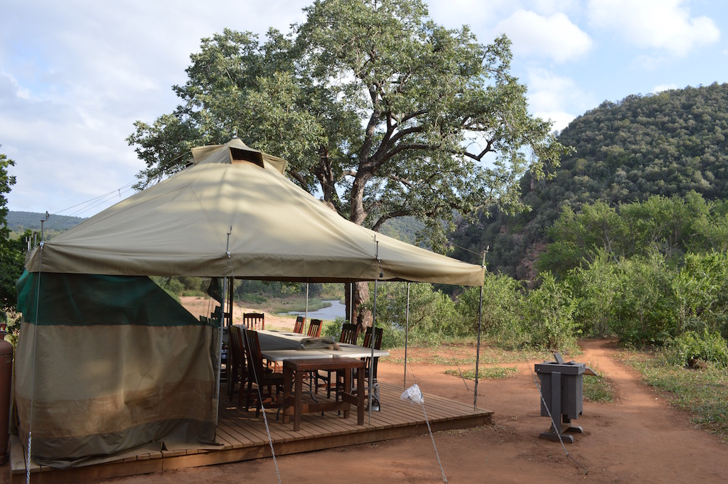 The Nyalaland trail main camp area in the Kruger National Park