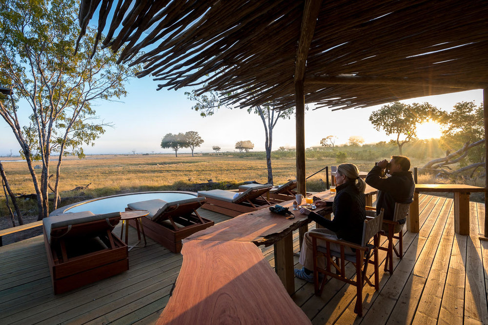 african safari experts game lodge overlooking water hole