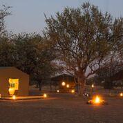african safari experts tent in pilanesberg national park at night