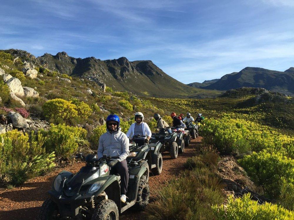Quad biking in the mountains
