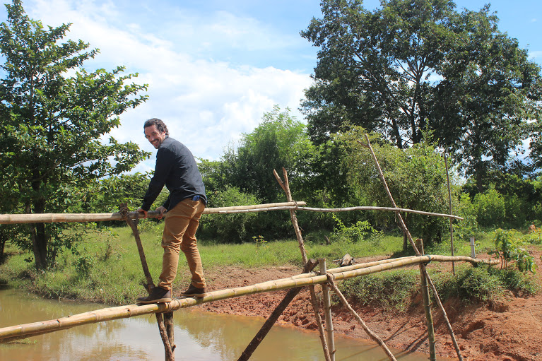Rob on bamboo bridge 2015.JPG