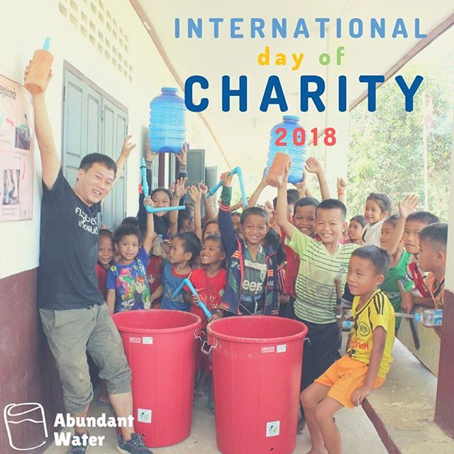 Today marks the International Day of Charity. Abundant Water would like to take a minute to say a big THANK YOU to all our supporters and volunteers who make our work possible 💦💦 #abundantwater #internationaldayofcharity