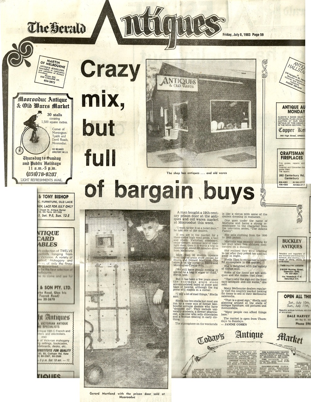 Crazy mix, but full of bargain buys - The herald Antiques - Friday, July 8 1983 pg.59.jpg