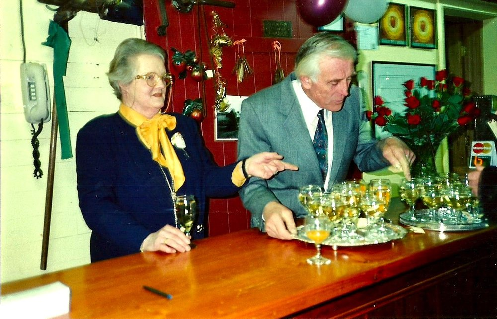 Sheila and Gerard Martland at the opening of Tyabb Packing House Antiques in 1993.